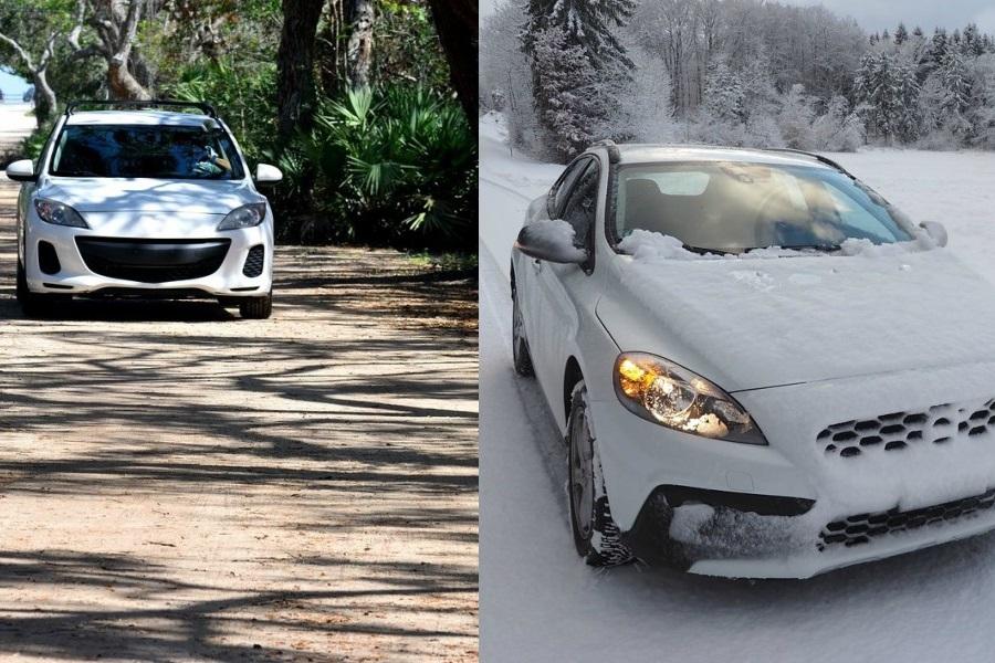 pory roku Czyszczenie samochodów